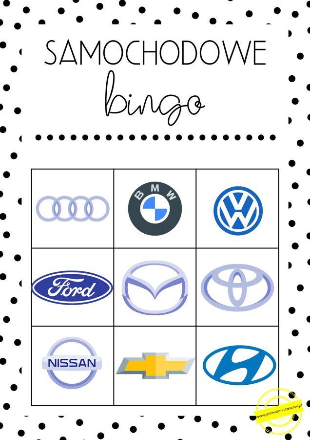 dzień chłopaka - samochodowe bingo